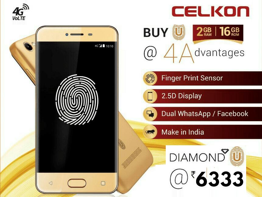 CELKON DIAMOND U 4G SMARTPHONE